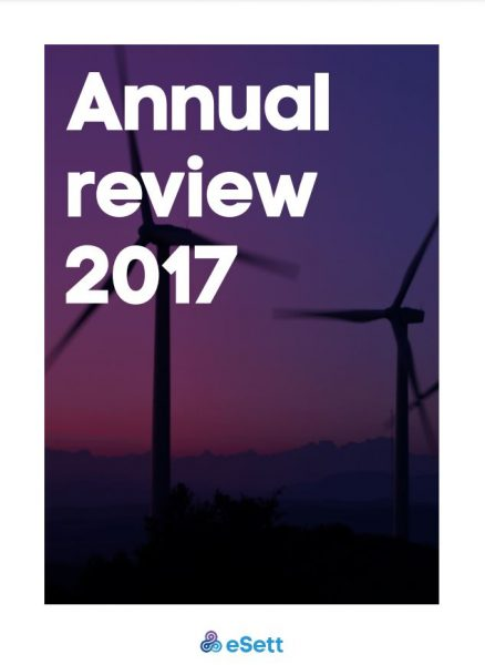 eSett Annual Review 2017 cover image