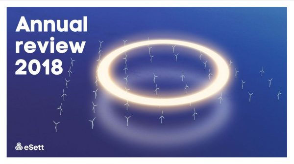 eSett Annual Review 2018 cover image